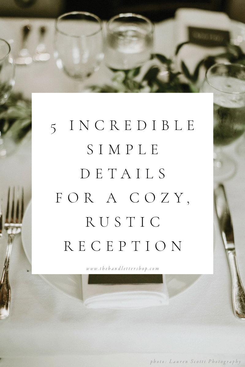 Incredibly simple wedding details from The Hand Letter Shop.