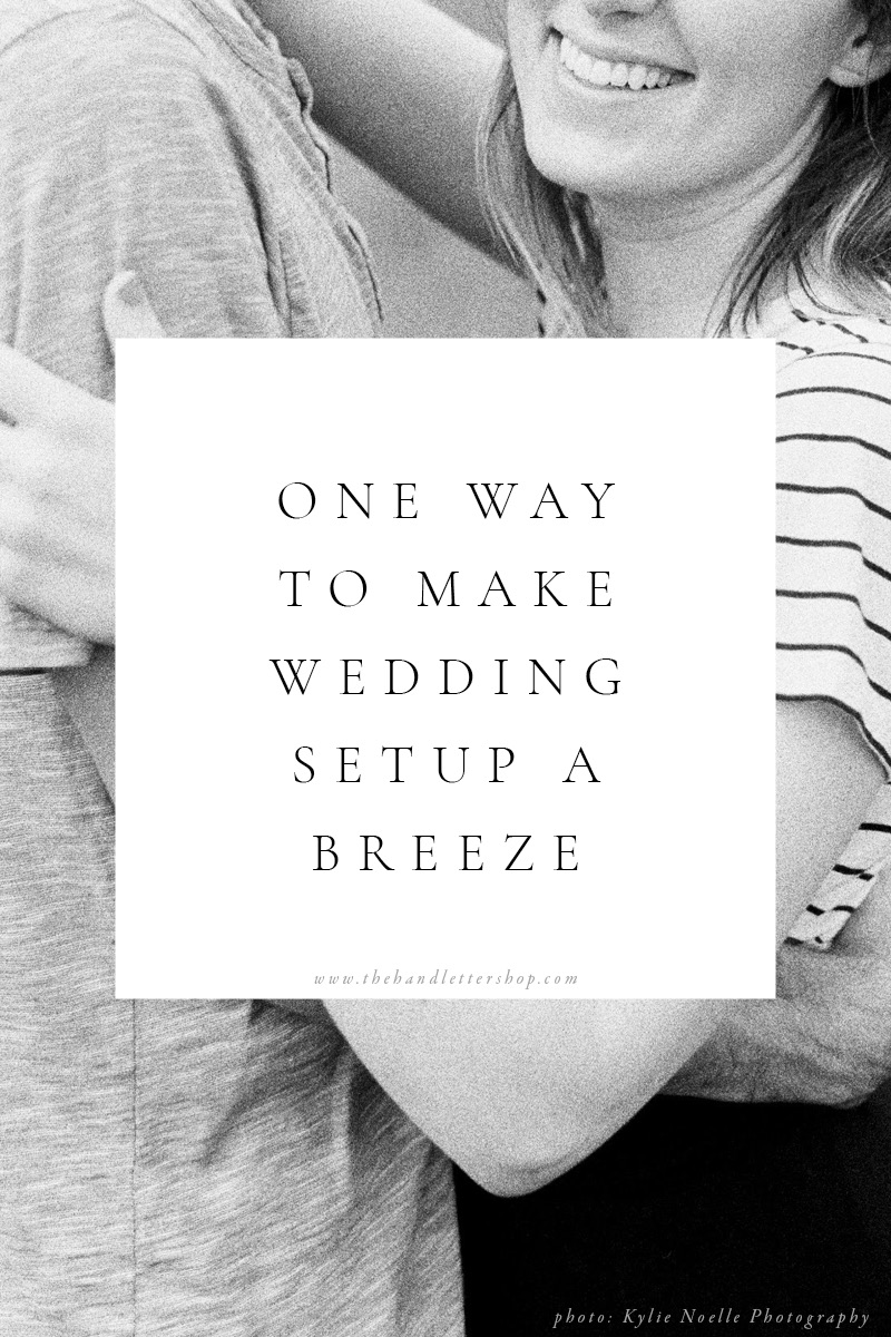 Wedding reception setup and wedding planning tips from #thehandlettershop