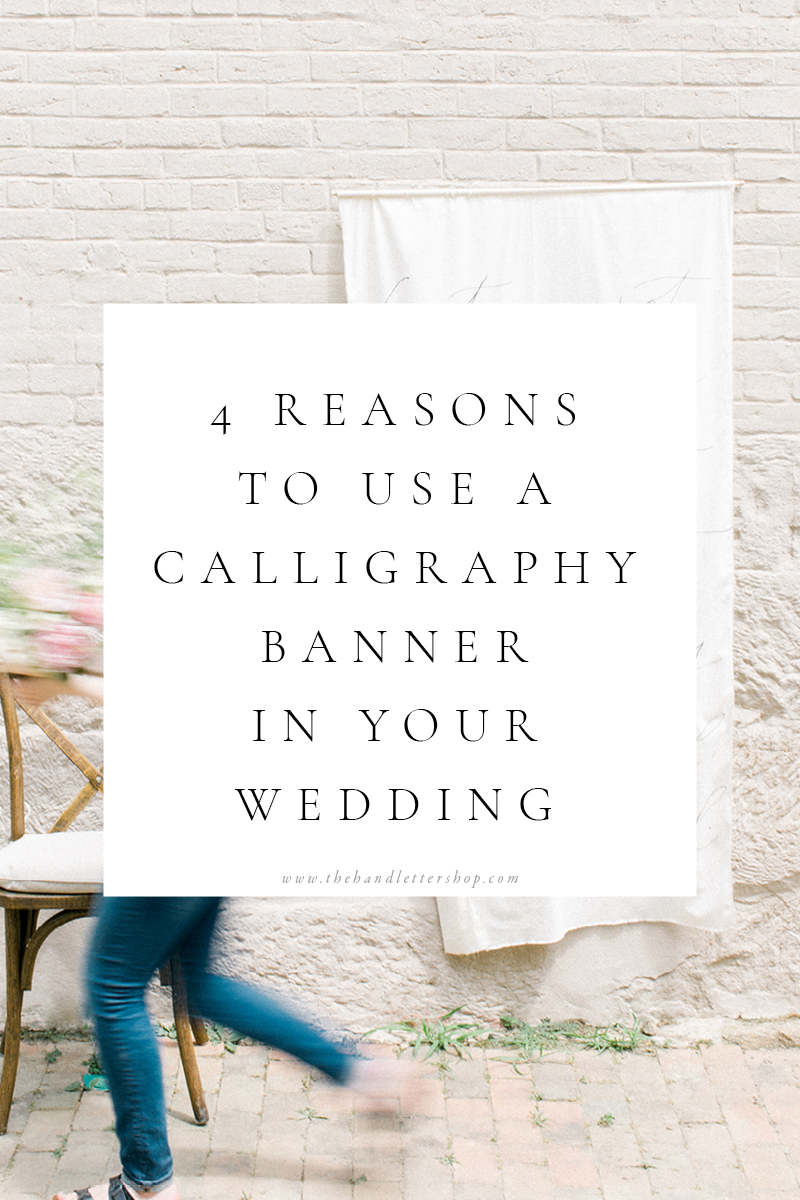 Calligraphy wedding banners and wedding planning tips from #thehandlettershop