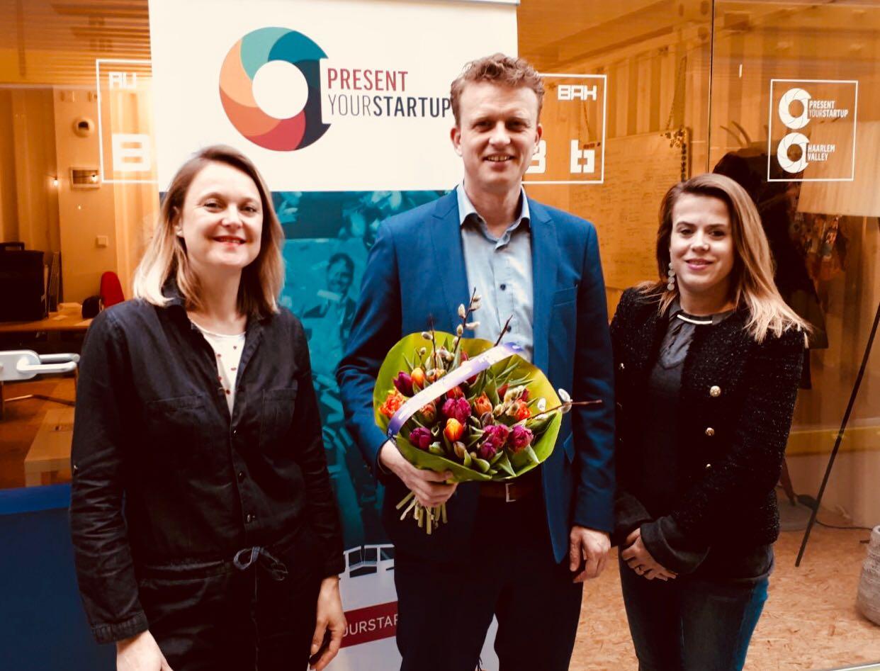 3rd Prize winner Erwin Meijboom of Slow Mill Sustainable project from Haarlem won hotel costs on Sint Maarten.