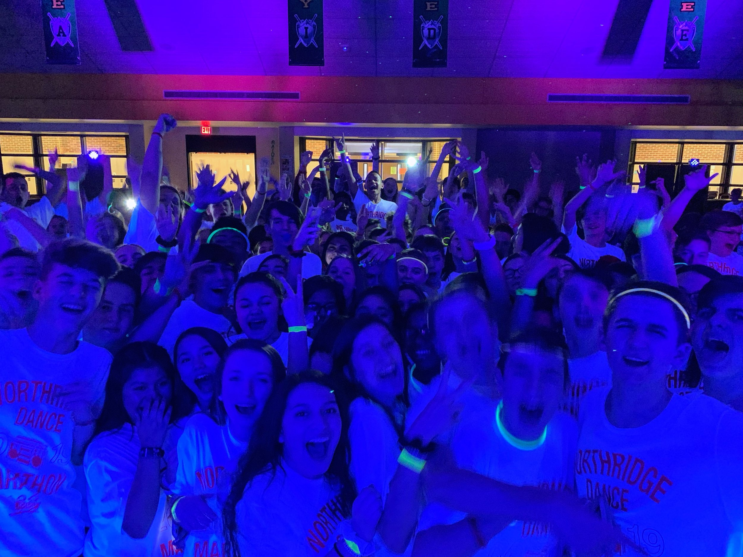 Indiana School Dance DJ Blacklight Party