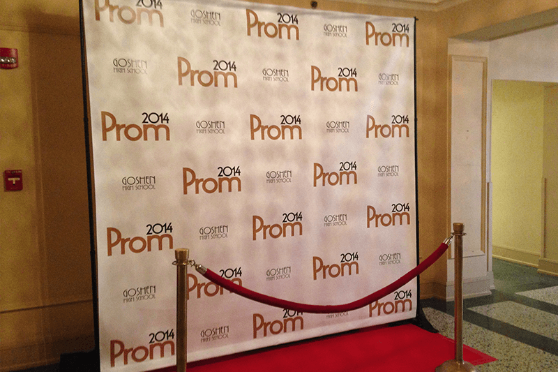 Prom step and repeat custom banner in Elkhart County Indiana