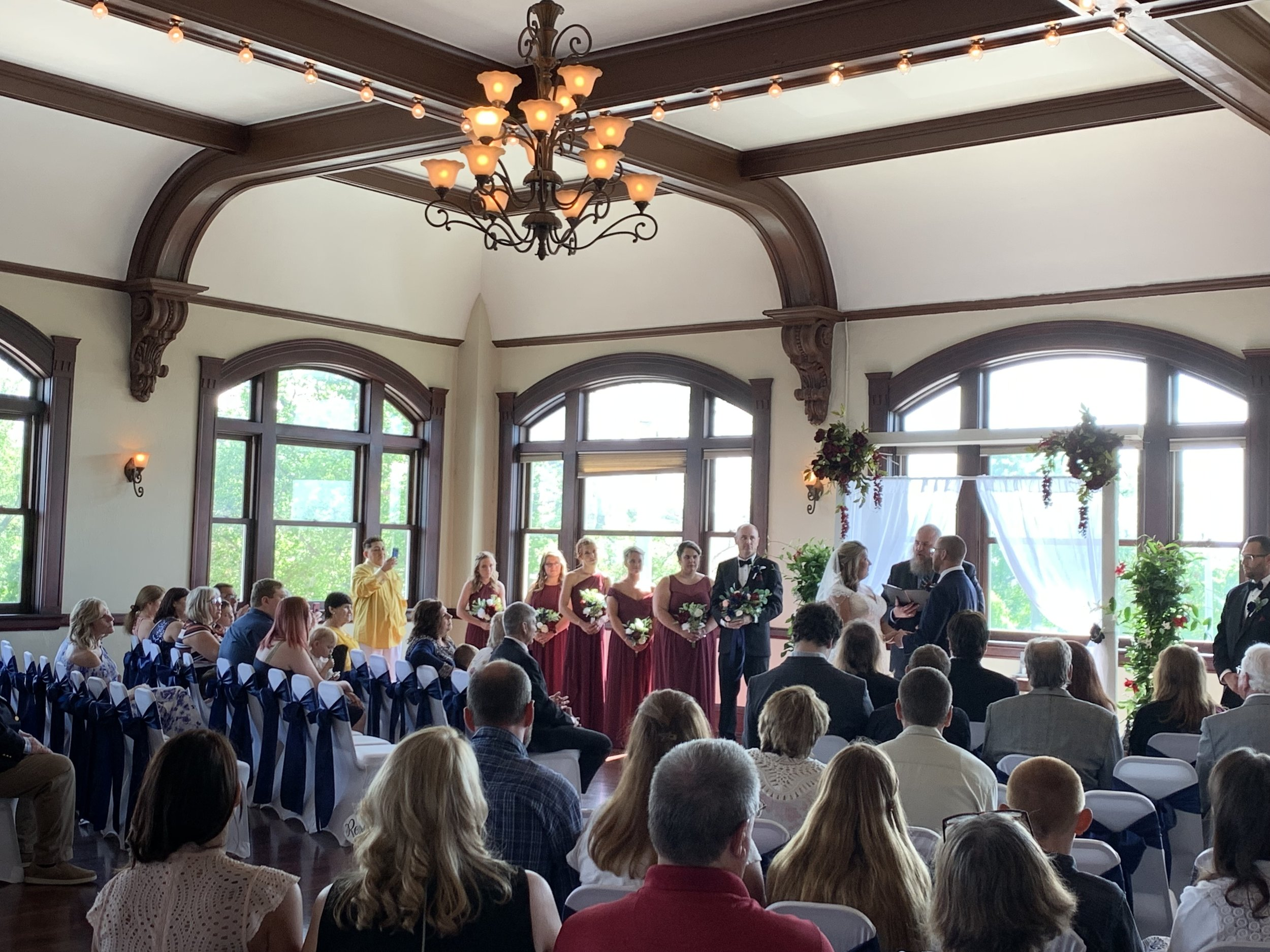 Spohn Ballroom wedding ceremony