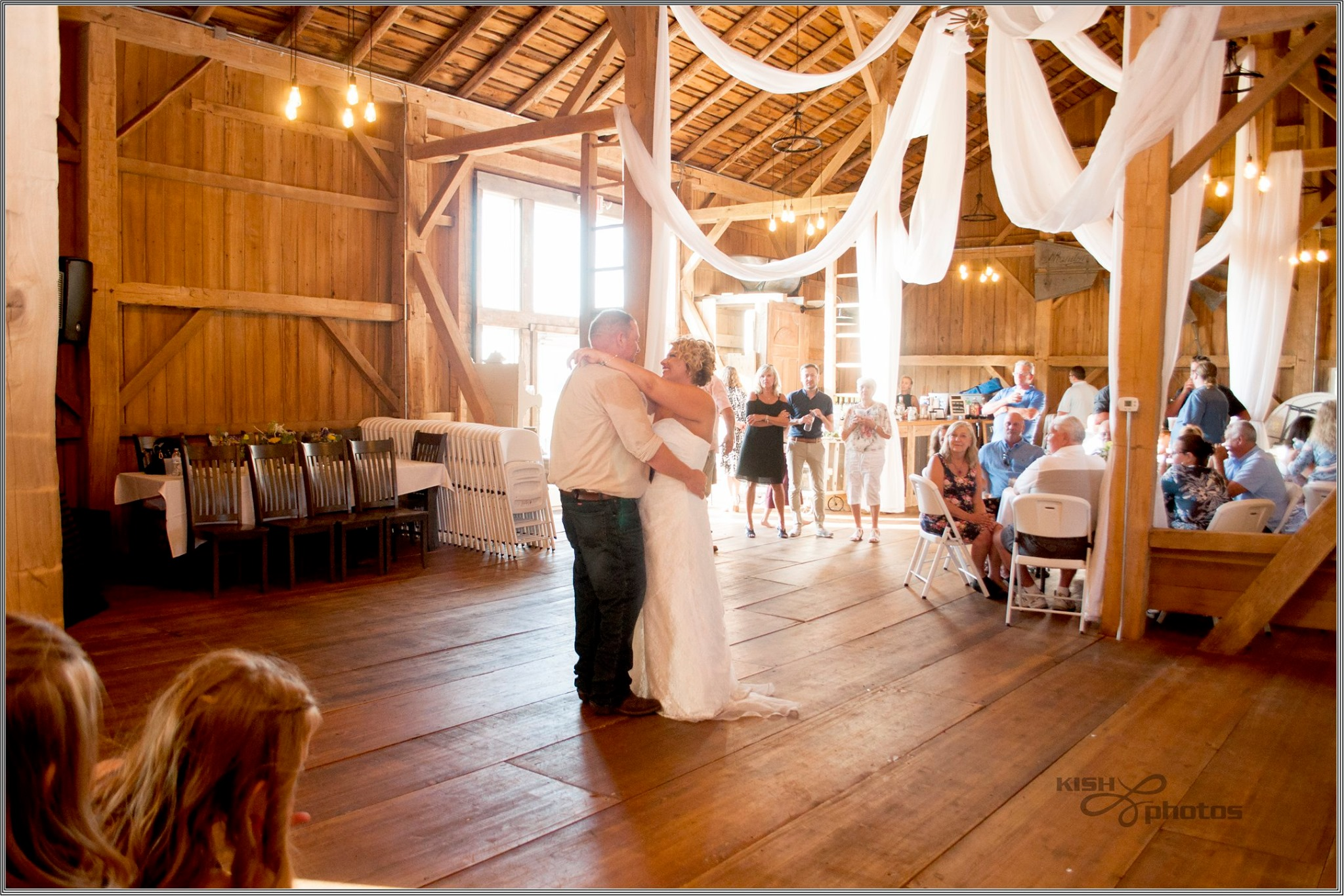 bride and groom first dance at Meadow Brook Barn