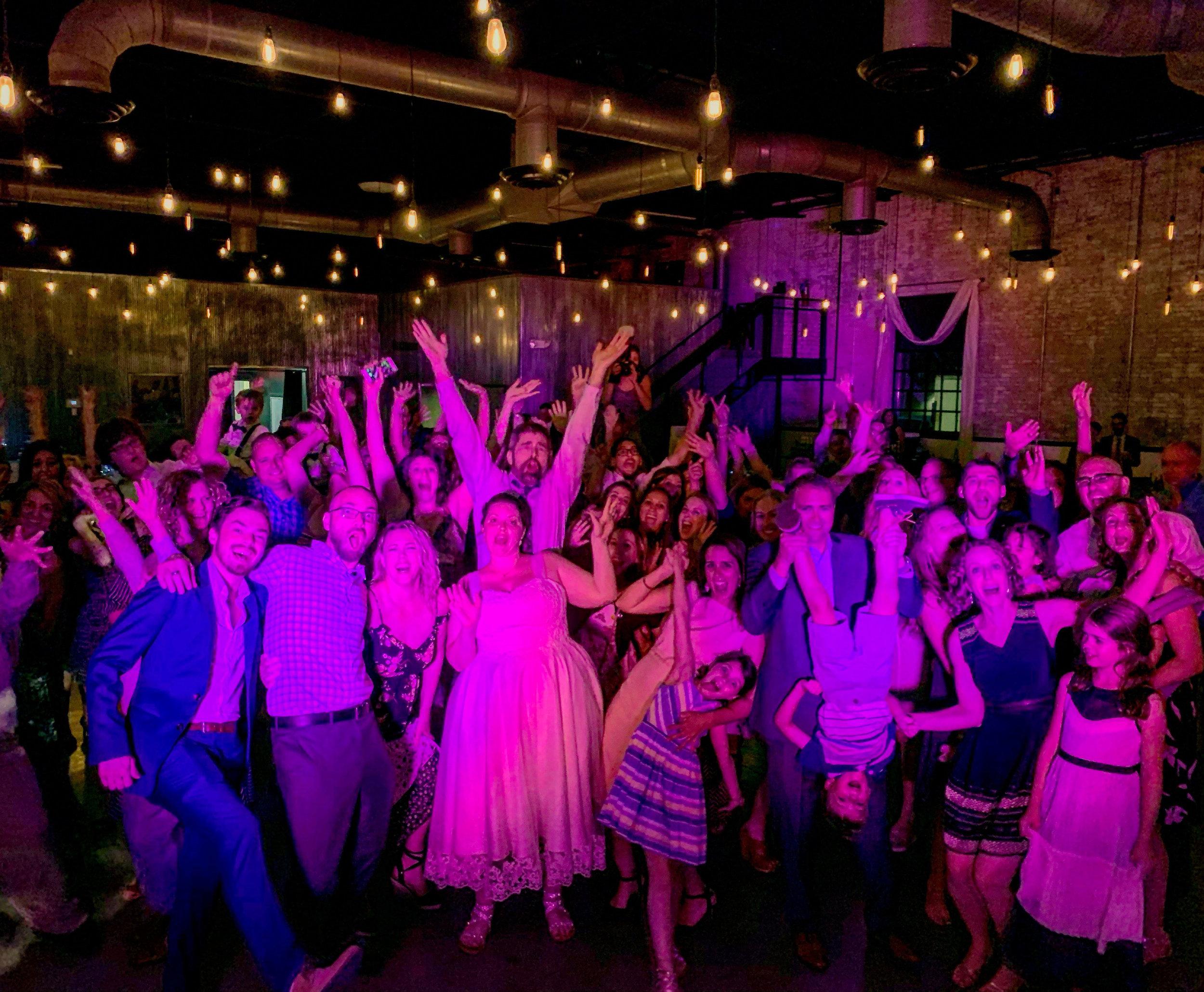 Fun wedding DJ at the Brick in South Bend, IN