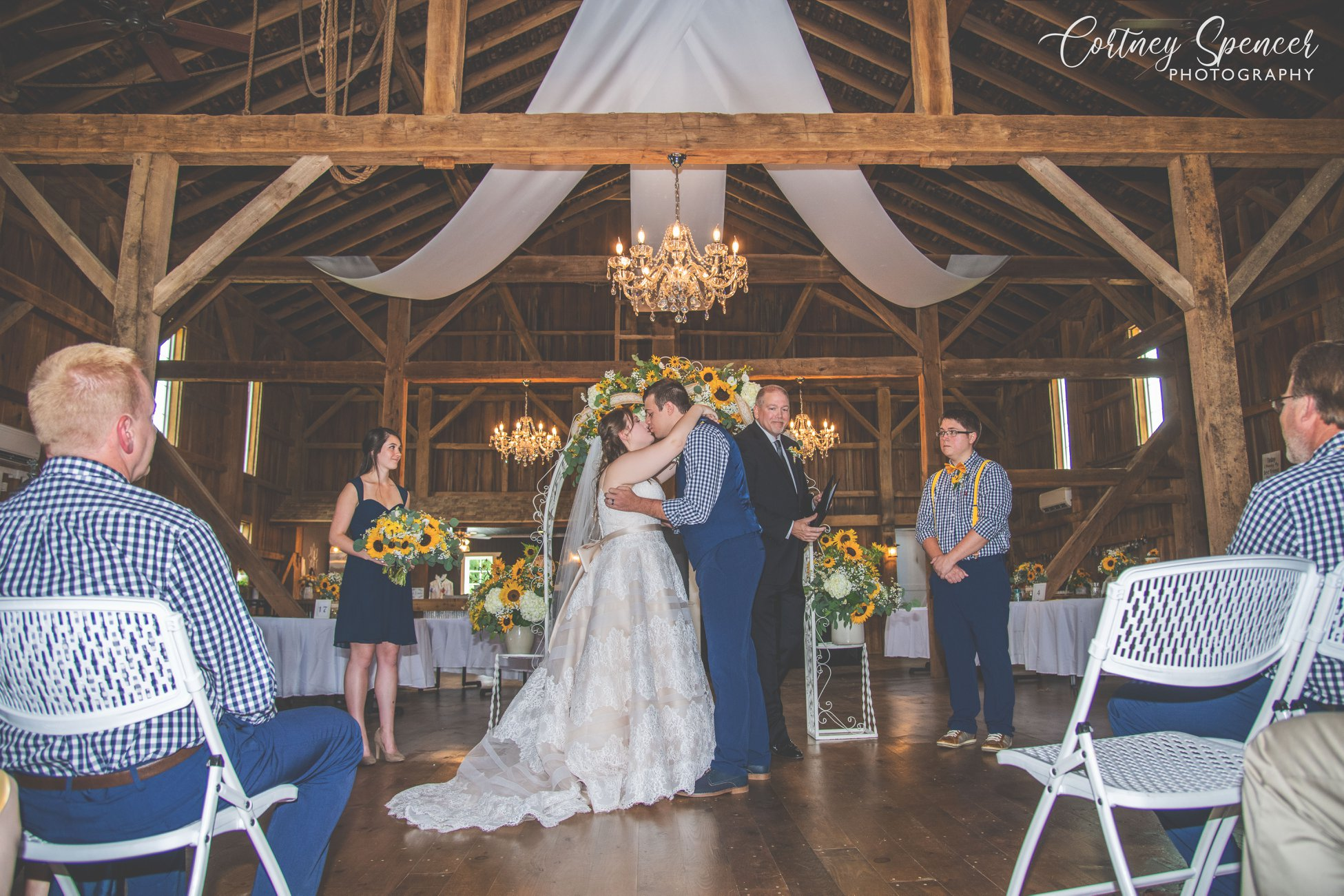 Wedding at Rock Run Creek Barn in Goshen IN