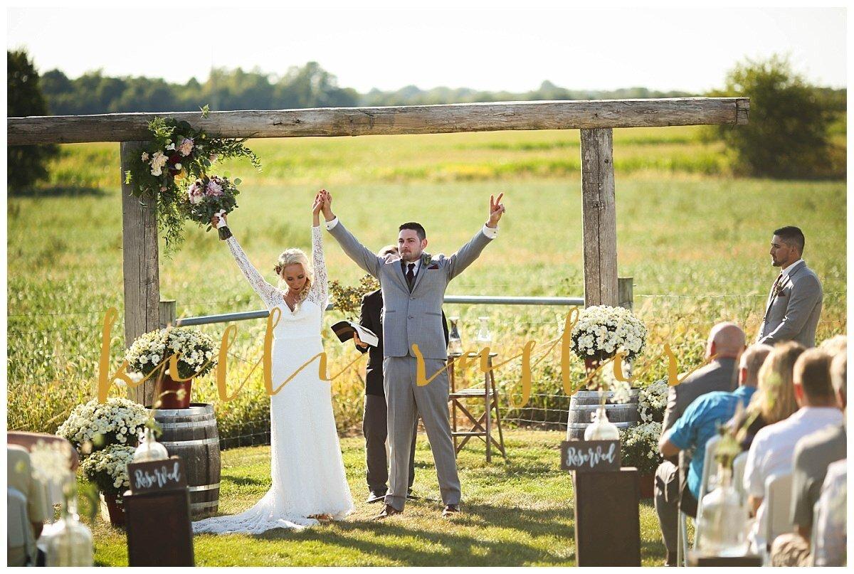 Meadow Brook Barn outdoor wedding ceremony