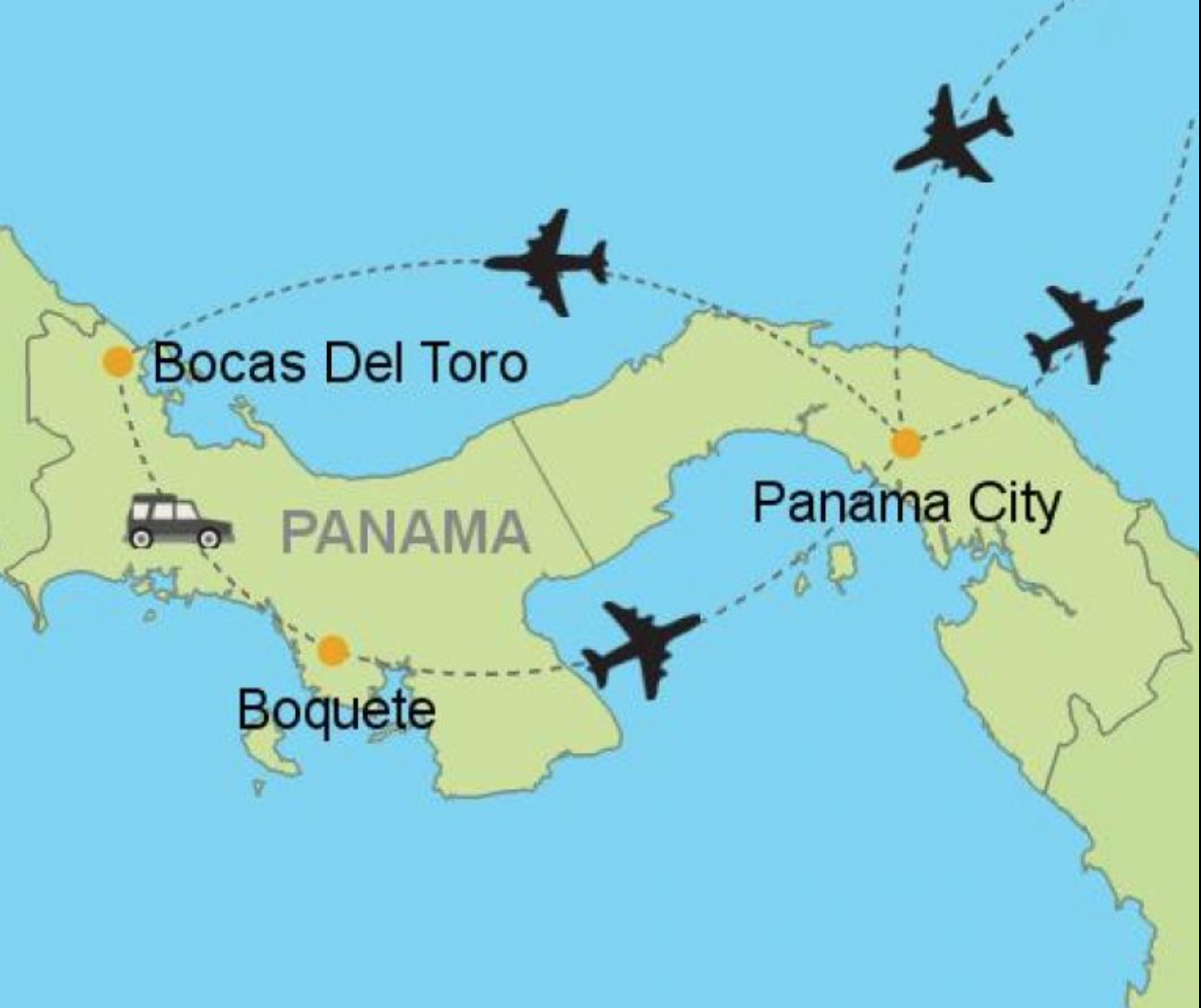 Travel Information... - Now for the exciting part, getting here! You will fly into Tocumen Airport Panama City (PTY) using the most convenient airline from your origin. Once in Panama City, you will take a taxi to Albrook Airport. Often travel itineraries line up and we pair students to share the ride. You'll fly from Albrook Airport (PAC) to Bocas del Toro Airport (BDT) on Air Panama. We will meet you there! (Allow us to confirm your itinerary before purchasing)Another option is to fly into San Jose Costa Rica (SJO), and take the shuttle. It's more time consuming so you will need to account for the additional time to arrive for the start of the program.