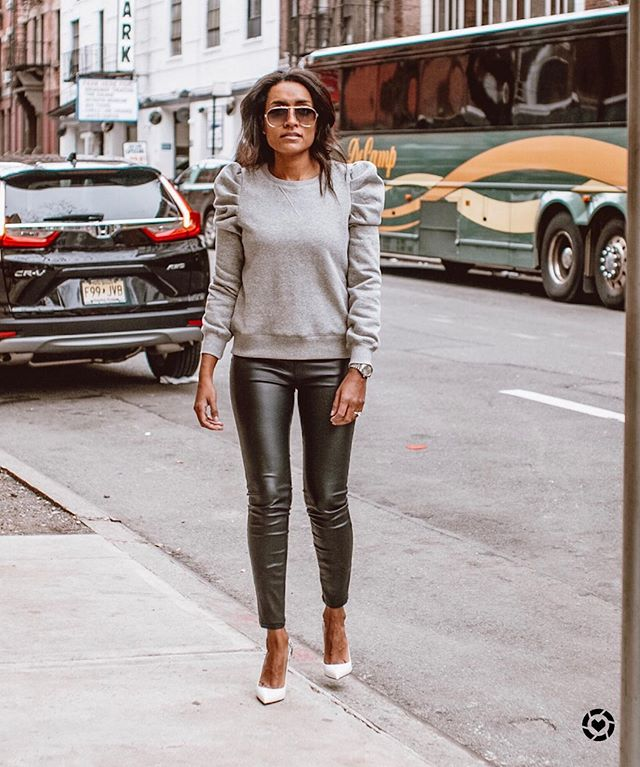 I feel most like myself in a cute sweatshirt and heels!  What about you?! ♥️♥️#stylingbykrys #yourfriendlyneighborhoodstylist #springwardrobe #sweatergamestrong #lookbook #nycstreetstyle #liketkit http://liketk.it/2BPg6 @liketoknow.it  Shop your screenshot of this pic with the LIKEtoKNOW.it app  Or  Follow me on the LIKEtoKNOW.it app to get the product details for this look and others
