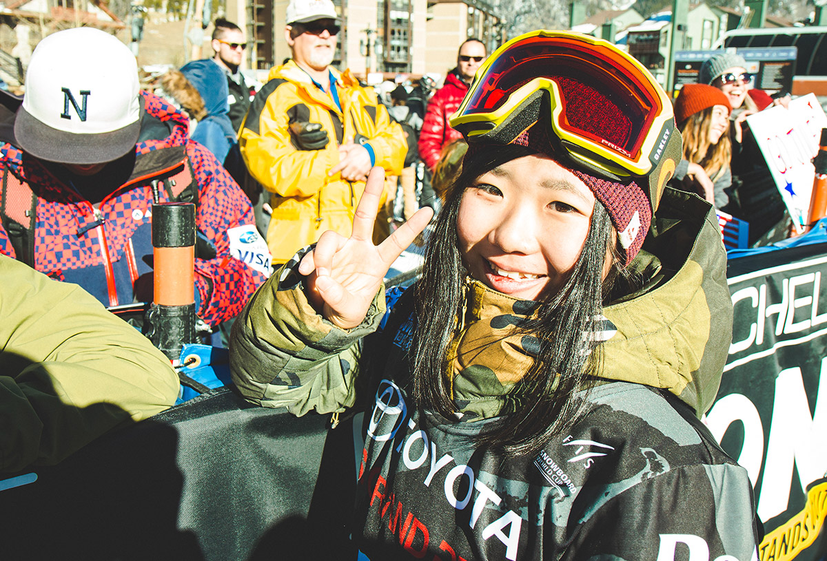 15 year-old leila just won her 1st Fis world cup.