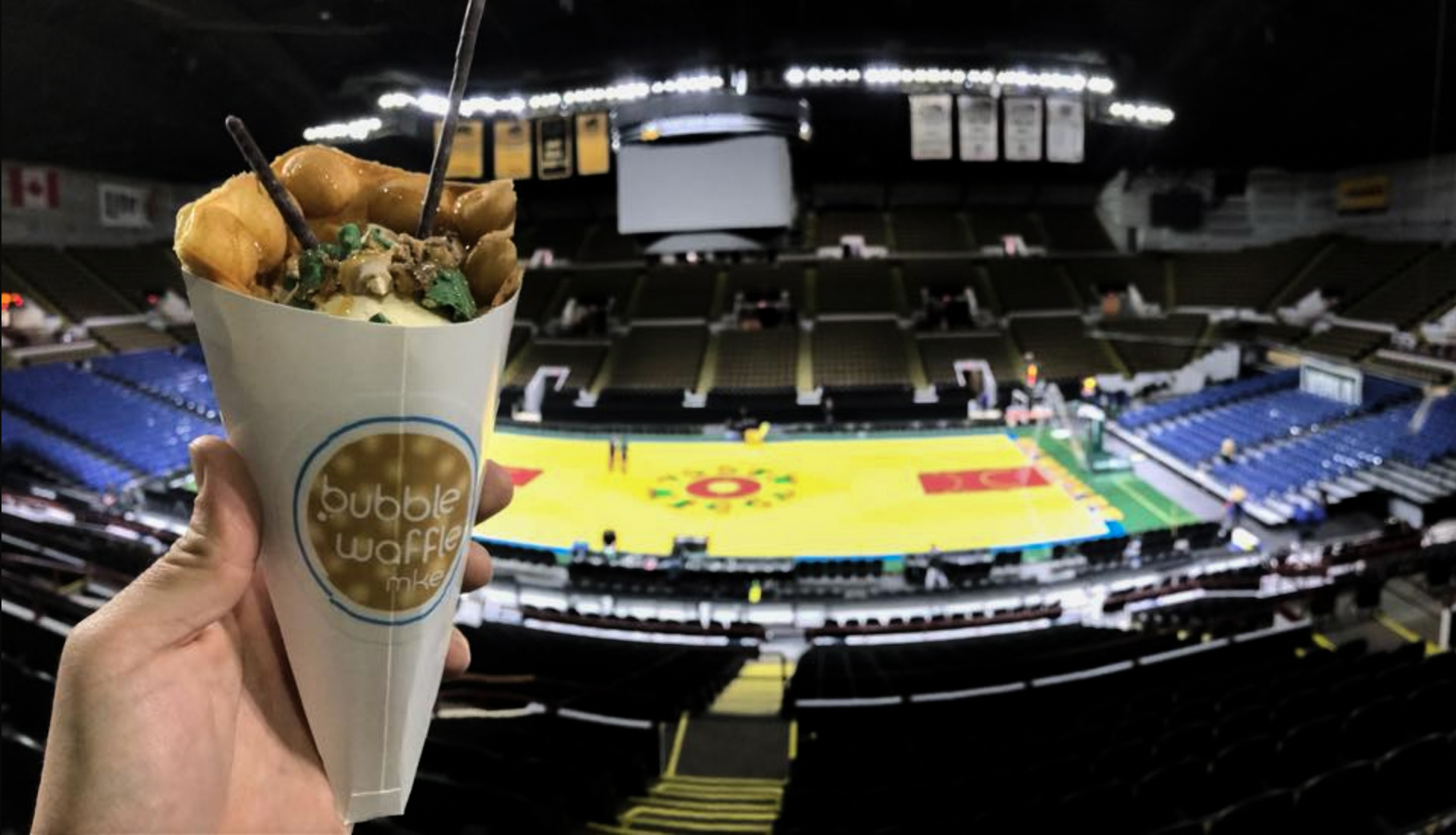 New at the UWM Panther Arena in 2017, Bubble Waffle MKE is taking Milwaukee by storm, one sports fan at a time!