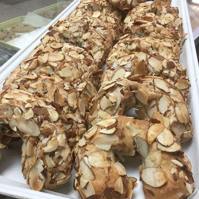 Homemade αμυγδαλωτά (Greek Almond Horns)!