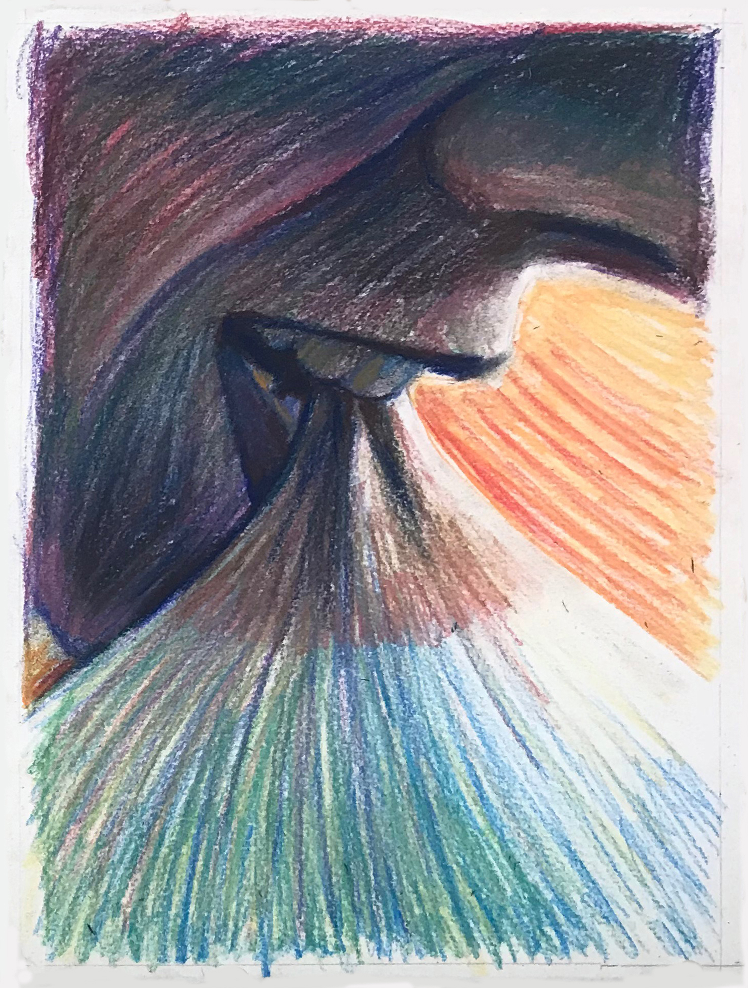 Bite   conté crayon and pastel on paper  9 X 12 inches  2019
