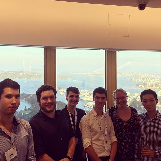Team representatives on top of the world #RobotX #welcomeevening #centrepointtower #usydrowboat @robonation