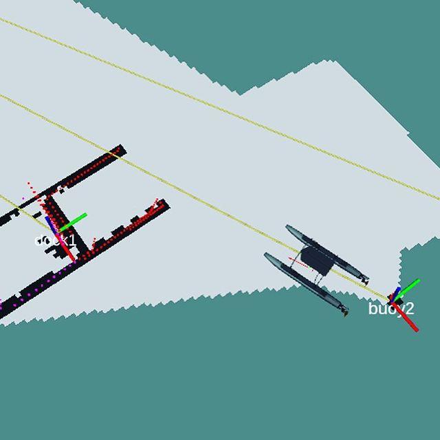 Sensors detecting objects and identifying them for navigation #opencv #robotx #usydrowbot #gazebo #simulation