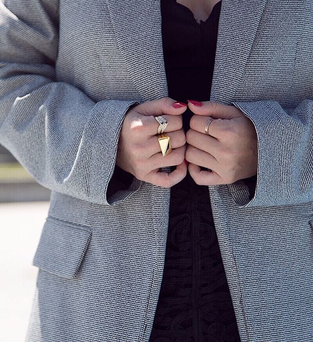 "@nomadmoda wearing our Thick Flex Collection Ring in Yellow Gold. Now 20% off with code ""MDAY19"" at checkout!"