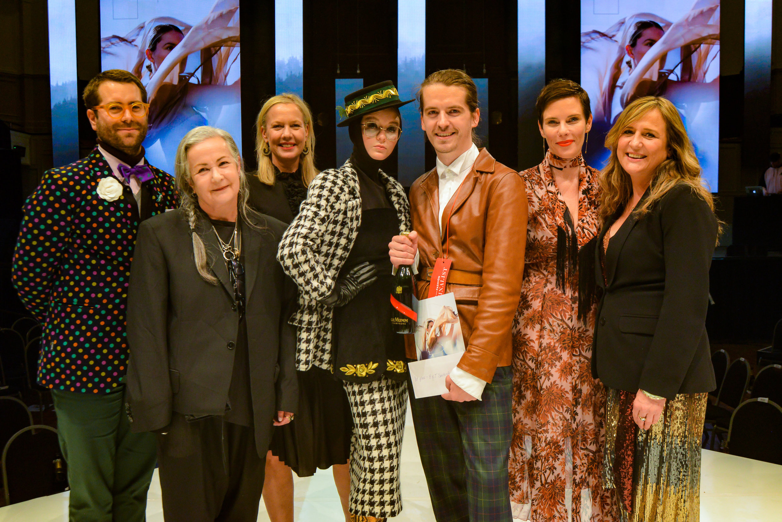 Damir Begovic with Judges from left to right: Benny Castles, Margarita Robertson, Amanda Linnell, Karen Walker and Tanya Carlson. Image supplied