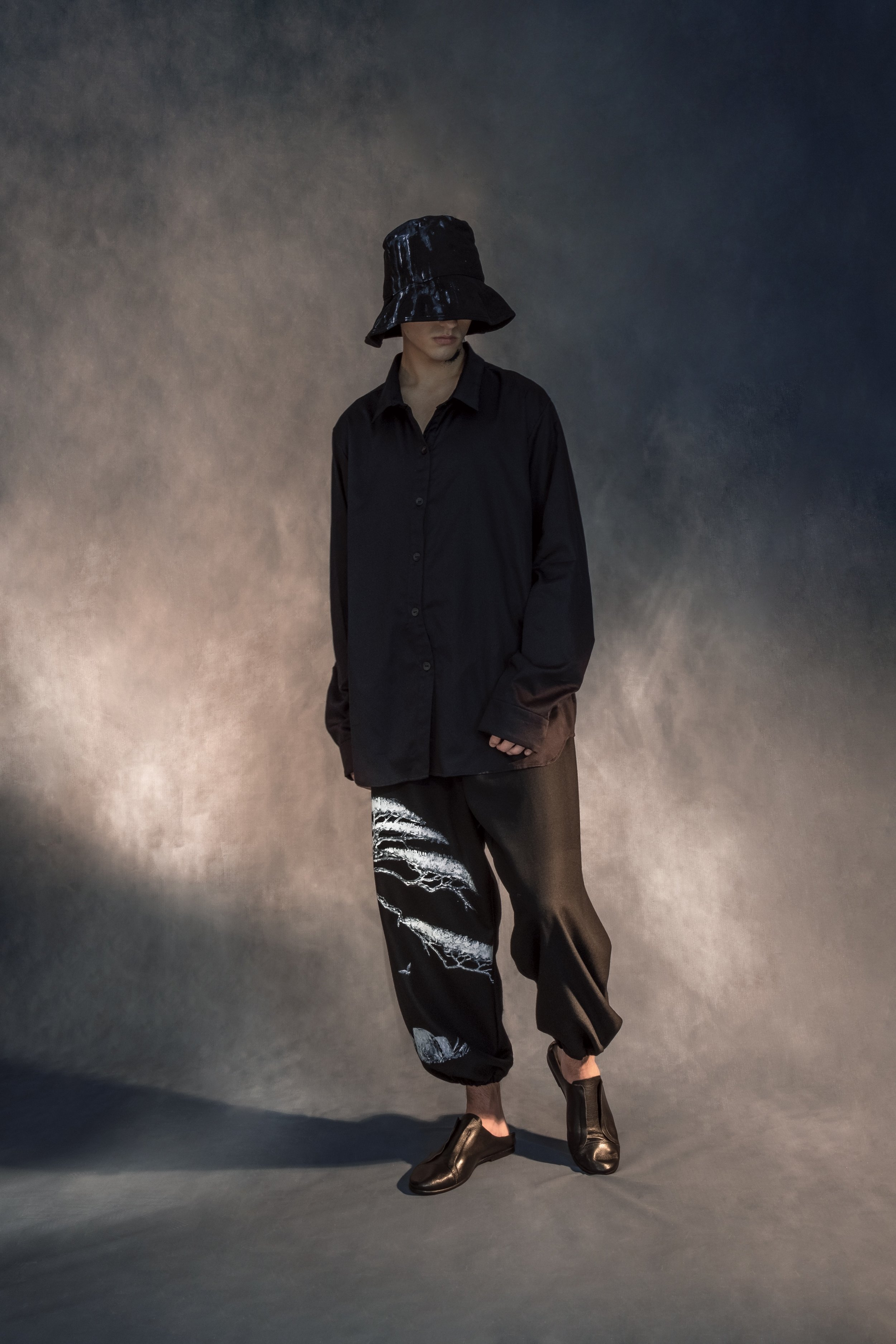 Romantic Chinese landscapes make a statement about Yuexue Wang's cultural identity in her collection, Mo.
