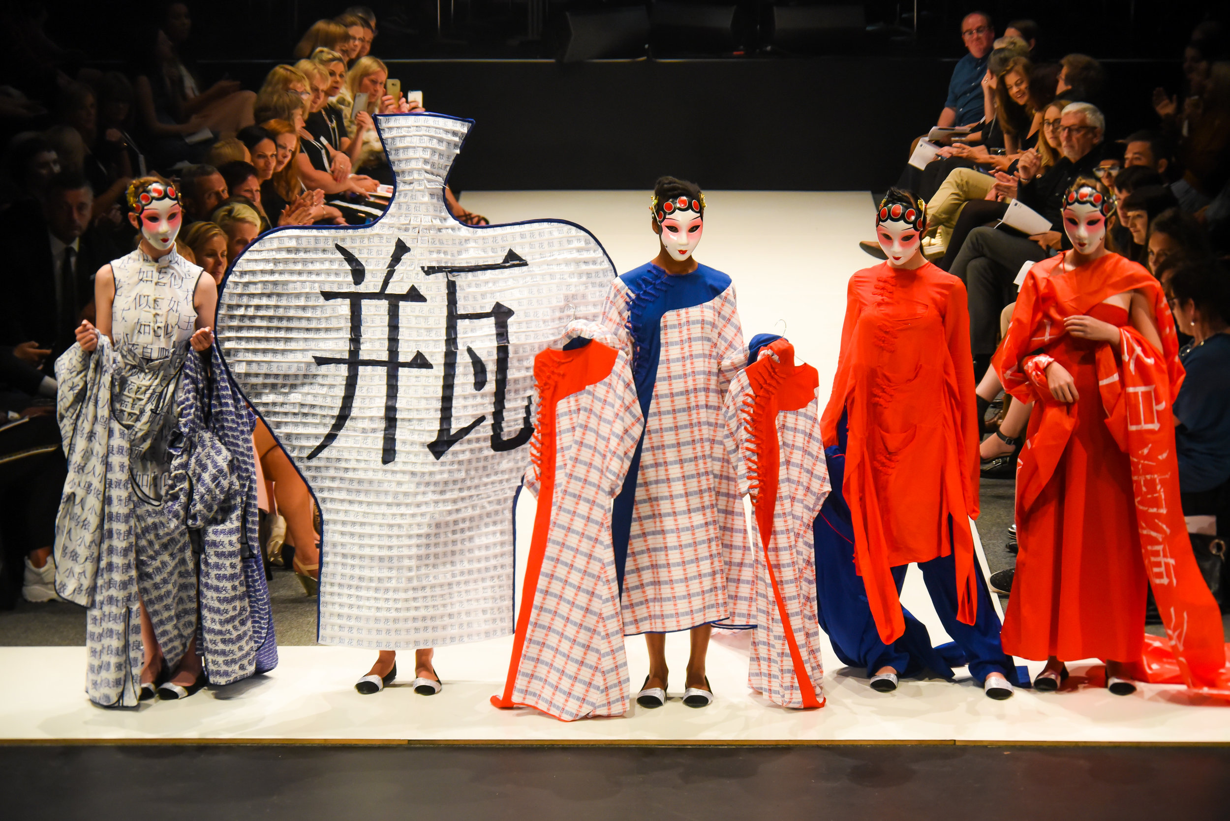 Betty Liu won second place with a collection exploring the commodification of Chinese culture. Photo: Chris Sullivan.