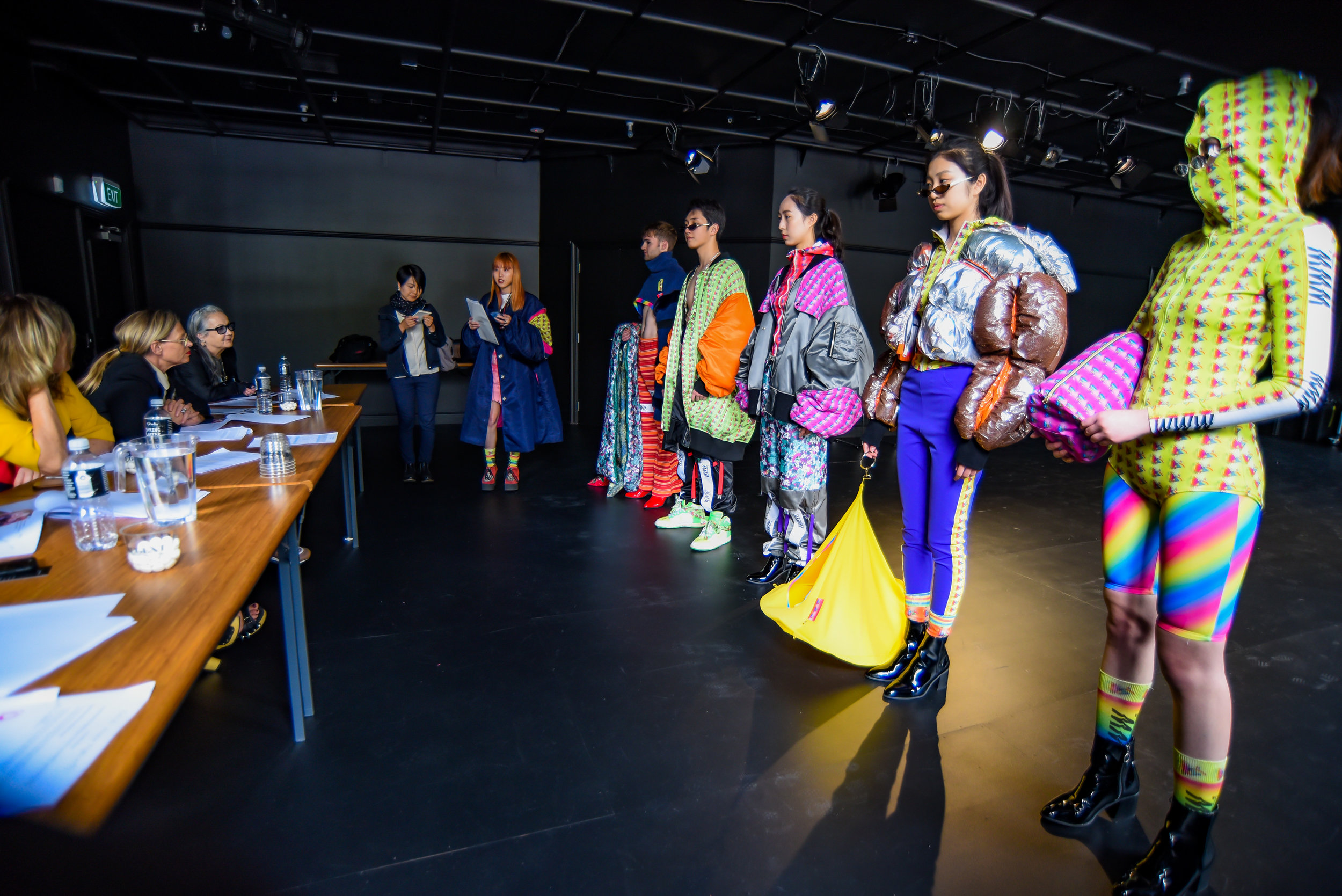Minori Yanagase (Osaka Bunka Institute of Fashion) presents her collection on judging day. photo credit: Chris Sullivan.