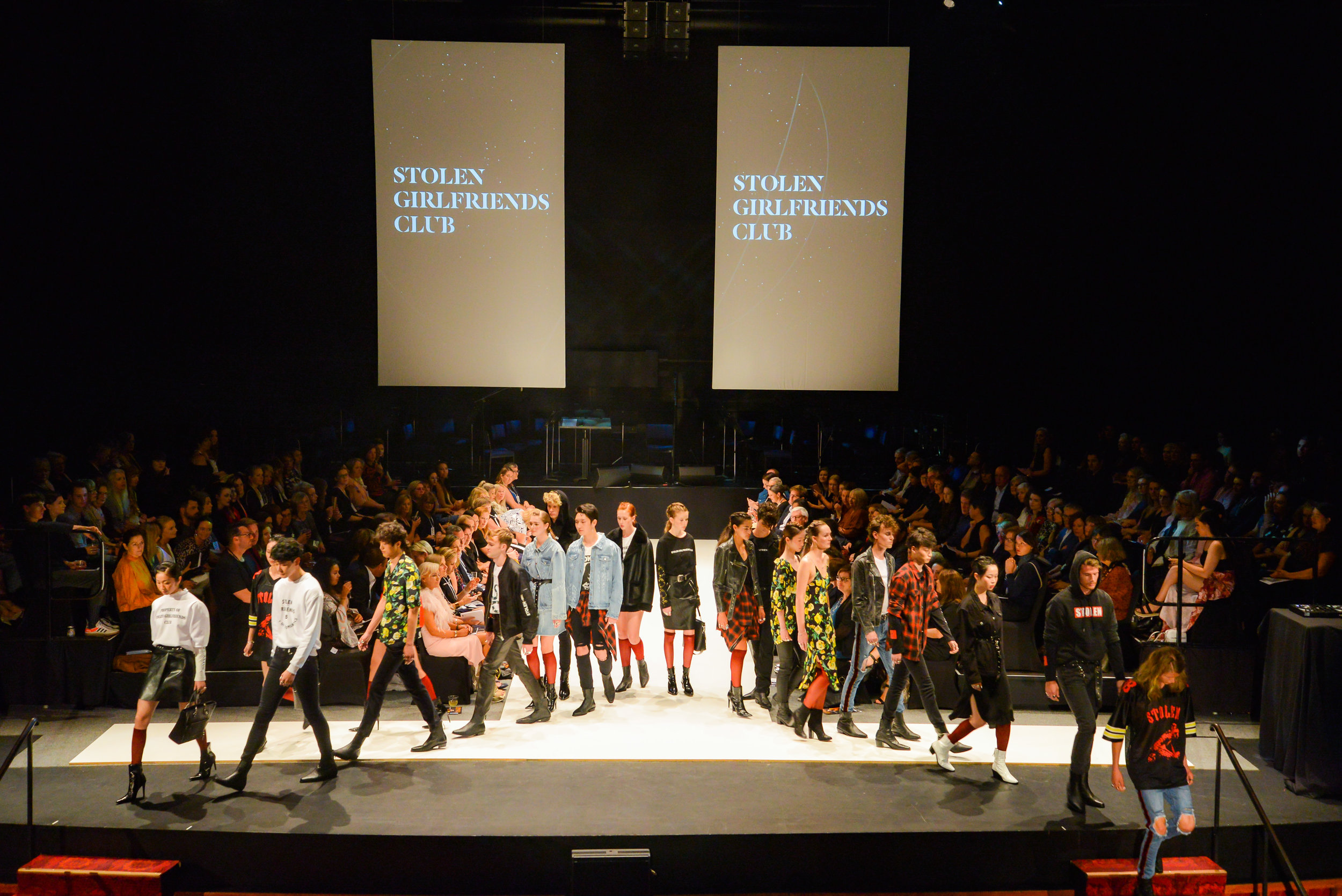 Stolen Girlfriends Club show their current collection in celebration of 20 years of iD. Photo: Chris Sullivan.