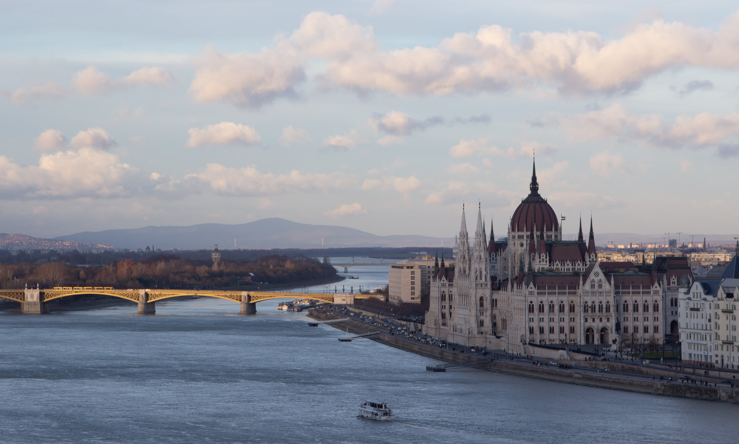 Parliament from across the Danube.