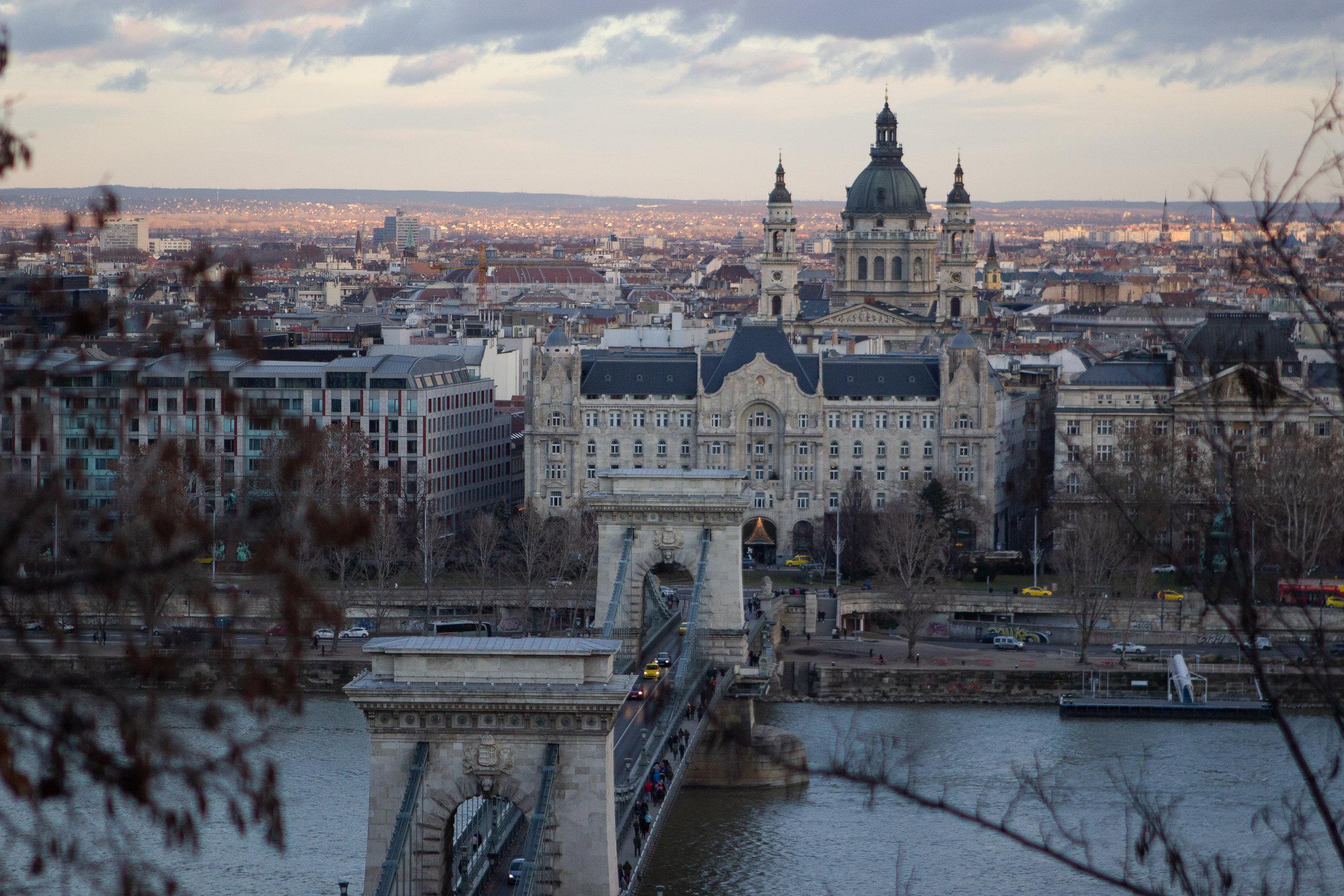 St. Stephen's Dome above the Budapest skyline.