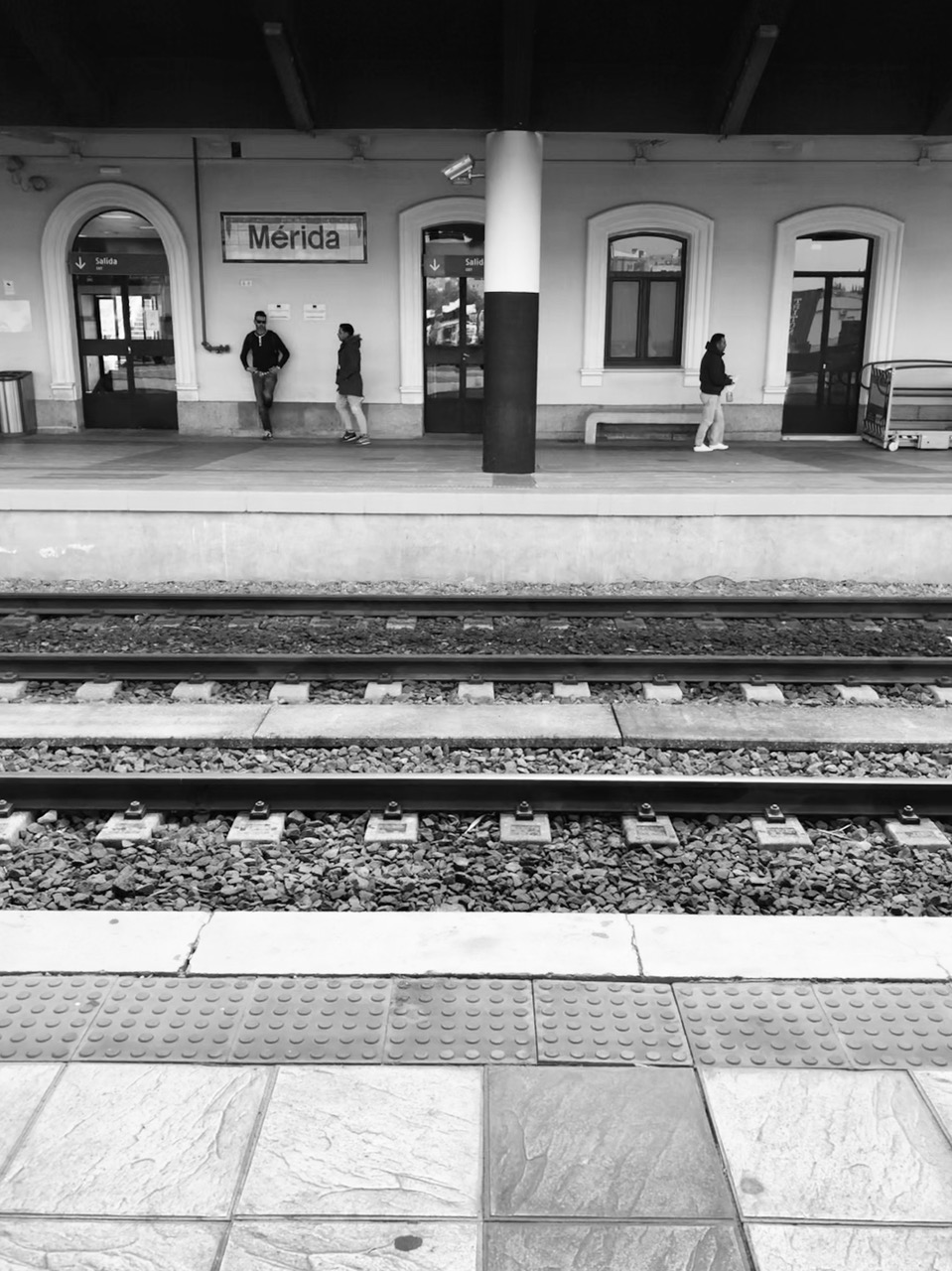Train platform view in Merida, Spain. (Photo: Gavin McCrory)