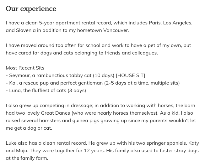 TrustedHousesitters Our Experience.png
