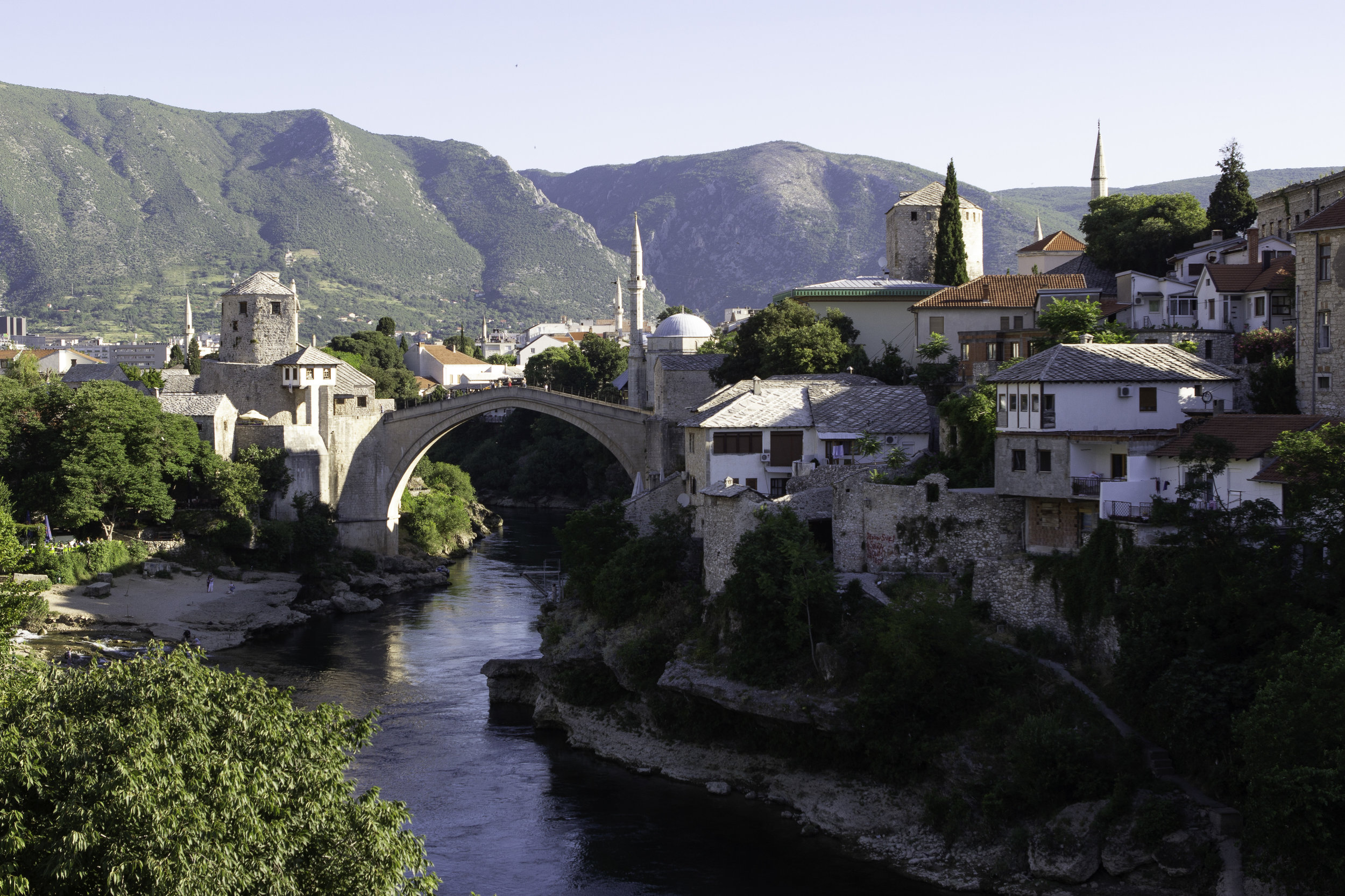 One of the iconic views of  Stari Most , taken from  Lucki Most  to the south.