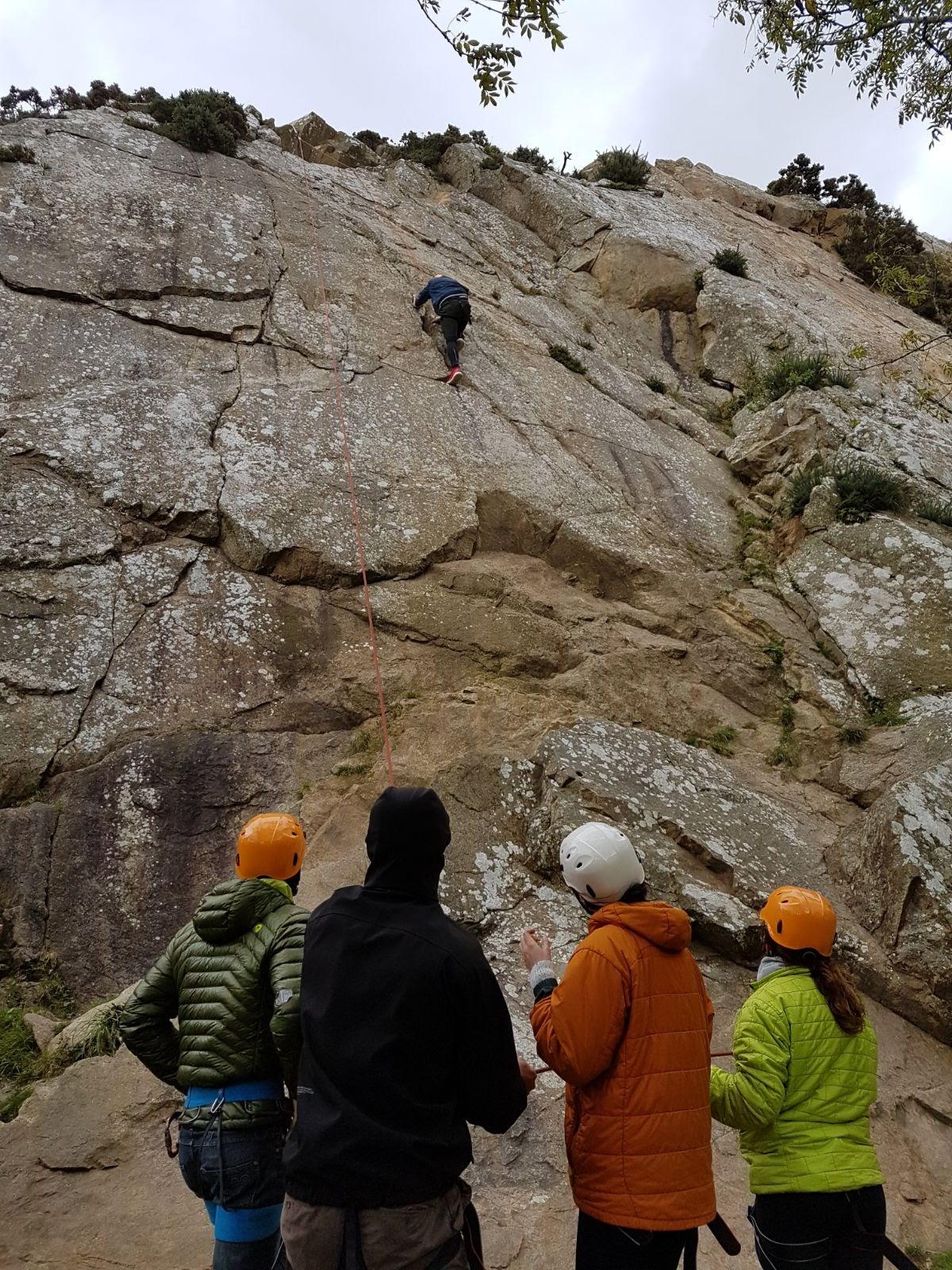 Learning to climb at Dalkey Quarry, Dublin