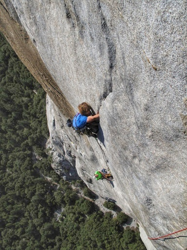 Climbing The Nose, on El Capitan in a day