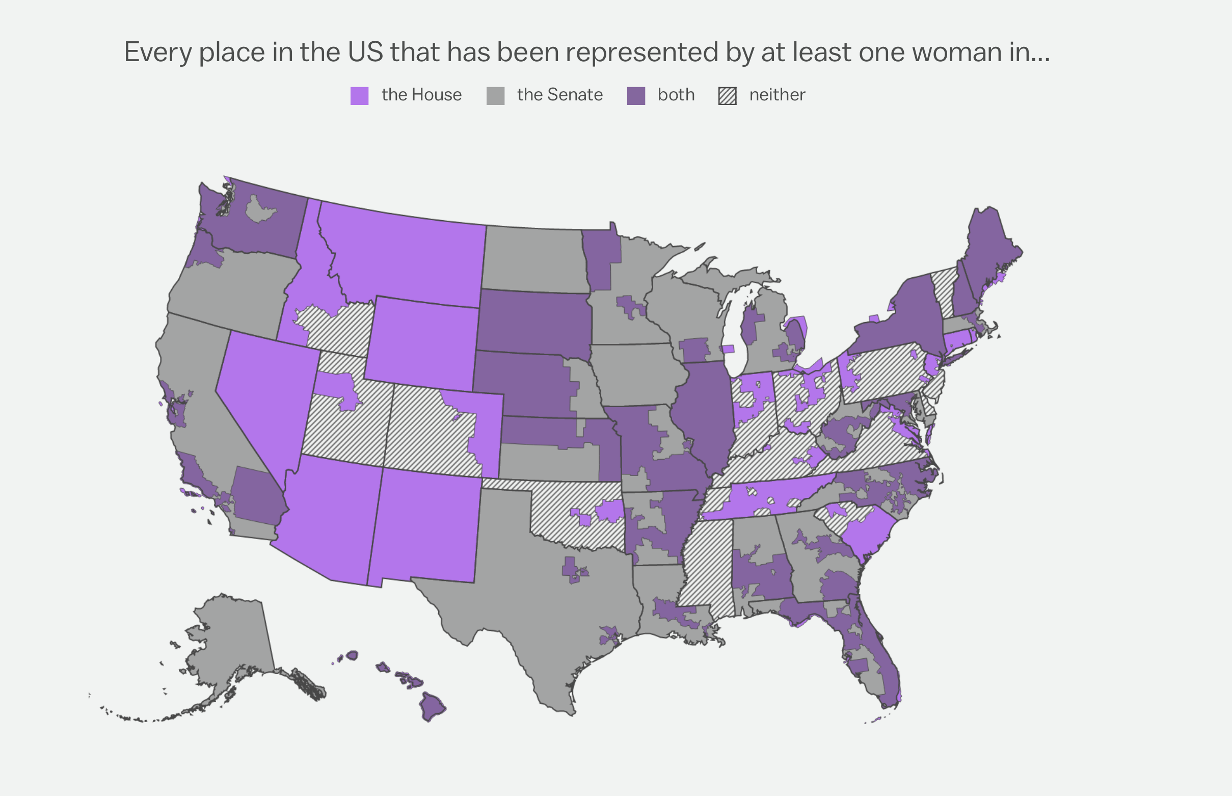 Did you know? - Currently women occupy only 17% of national elective office. In the Missouri House, only 25% of the representatives are women. The Missouri senate, 14% are women. In Kansas House, only 25% of the representatives are women. Kansas Senate, 32% are women.
