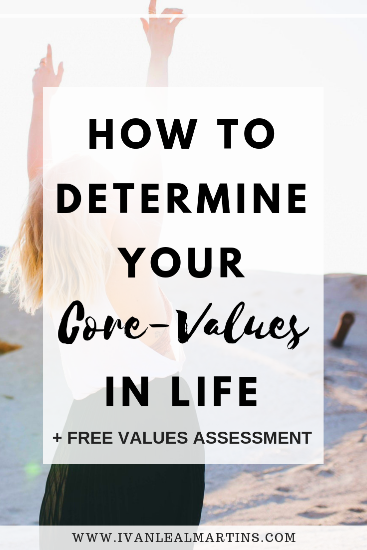 How to determine your core values in life