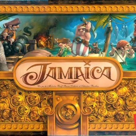 Jamaica - This is a fantastic pirate-themed racing board game. It can be played with 2-6 players and has excellent player interaction. Young children and grown adults love searching for treasure, storing food, collecting powers, and firing cannons at opponents. The race to Port Royal is so much fun with tough choices as a pirate captain. You won't be disappointed with the beautiful artwork/game pieces and the player interaction!