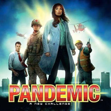Pandemic - Pandemic is a co-op game where players are part of a diverse team with a mission to save the world from 4 rapidly spreading diseases. You must coordinate with your team to determine which countries to travel to in order to contain and hopefully eradicate the diseases. This game always becomes super tense and is difficult to beat....but I always find myself wanting to play again and again after a loss.