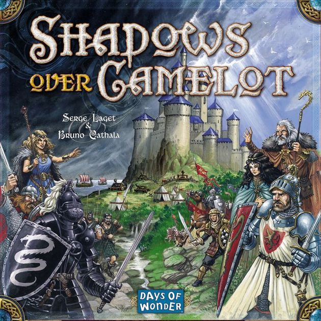 Shadows Over Camelot - As the incarnation of the Knights of the Round Table, you join forces against the game itself in an attempt to protect Camelot.Your victory hinges on the successful completion of legendary Quests, such as the search for Excalibur, the Holy Grail, or Lancelot's Armor; the tournament against the Black Knight; and numerous wars against the Saxons and Picts.But beware... all is not as it seems among these noble Knights. One of your number might yet turn out to be a traitor-in-waiting, biding his time while sowing havoc and destruction from the Shadows!