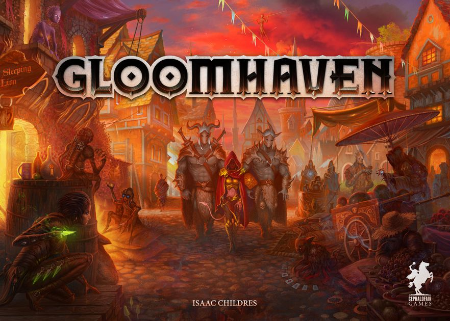 """Gloomhaven - Players will take on the role of a wandering mercenary with their own special set of skills and their own reasons for traveling to this remote corner of the world. Players must work together out of necessity to clear out menacing dungeons and forgotten ruins. In the process they will enhance their abilities with experience and loot, discover new locations to explore and plunder, and expand an ever-branching story fueled by the decisions they make. This is a persistent game that is intended to be played over many game sessions. After a scenario, players will make decisions on what to do, which will determine how the story continues, kind of like a """"Choose Your Own Adventure"""" book."""