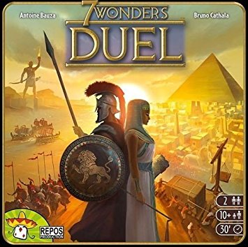 7 Wonder Duel - The original game 7 wonders took the gaming world by storm and became one of the most popular games starting in 2010. 7 Wonders Duel came out in 2015 as a standalone game for just 2 players. It has all the same mechanics as the original with card drafting and set collection. Many people find 7 Wonders Duel even more enjoyable with the balance of strategy and tactics in a 1 on 1 format. The original 7 Wonders game does not scale well for 2 players but 7 Wonders Duel is one of the most popular 2 player games out there currently.