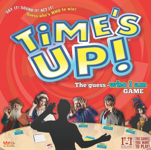 Times Up - PLAYERS:4 or moreTimes Up! is a three round game where two teams compete to guess the most famous names correctly. Teams alternate back and forth each round until all the names have been guessed. The same group of names is used throughout the entire game, which helps everyone guess as each round will get progressively more difficult.In the first round, the clue-giver can provide almost any kind of clue (ie words, motions, noises).In the second round no more than one word can be used in each clue and the teammates can give only a single answer. In the third round, the clue-giver cannot speak and teammates are only allowed a single guess to get it right.Time Up! is the perfect party game because you can play with large groups, it's easy to teach, and it ends up enabling participation from everyone.