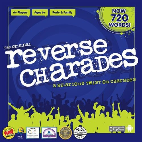 Reverse Charades - PLAYERS:4 or moreReverse Charades takes a twist on the classic game of charades. Instead of one person acting out a clue for a team to guess, a team acts out clues for one person to guess.In 60 seconds, teams attempt to guess as many words or phrases as they can. The team with the most correct guesses wins.Reverse Charades is perfect for medium sized groups with participants who don't mind getting out of their seats and moving around.