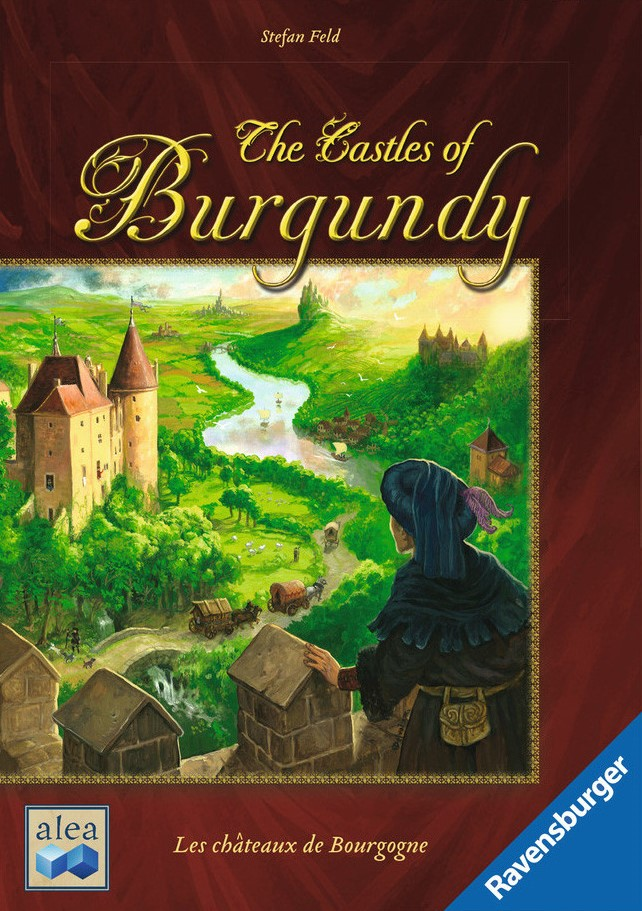 The Castles of Burgundy - RELEASED: 2011The Hundred Years' War is over and the Renaissance is looming. Conditions are perfect for the princes of the Loire Valley to propel their estates to prosperity and prominence. Through strategic trading and building, clever planning, and careful thought, players add settlements and castles, practice trade along the river, exploit silver mines, farm livestock and more.The game is about players taking settlement tiles from the game board and placing them into their princedom which is represented by the player board. Every tile has a function that starts when the tile is placed in the princedom. The princedom itself consists of several regions, each of which demands its own type of settlement tile.