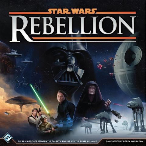 Star Wars: Rebellion - RELEASED: 2016In Rebellion, you control the entire Galactic Empire or the fledgling Rebel Alliance. You must command starships, account for troop movements, and rally systems to your cause. Given the differences between the Empire and Rebel Alliance, each side has different win conditions, and you'll need to adjust your play style depending on who you represent.Featuring more than 150 plastic miniatures and two game boards that account for thirty-two of the Star Wars galaxy's most notable systems, Rebellion features a scope that is as large and sweeping as any Star Wars game before it.