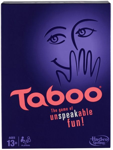 Taboo - PLAYERS:4 or MoreTaboo is a game for two teams in which players are trying to guess as many words/phrases from a clue-giver within a minute. The catch for the clue-give is for each word they need to describe they are also give a list of words they may not use in their clues.Taboo is a great game for groups who love to compete and enjoy puzzles that require them to think on their feet.