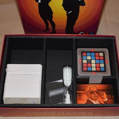 Codenames Foamcore Insert  Click to view on  Top Shelf Gamer