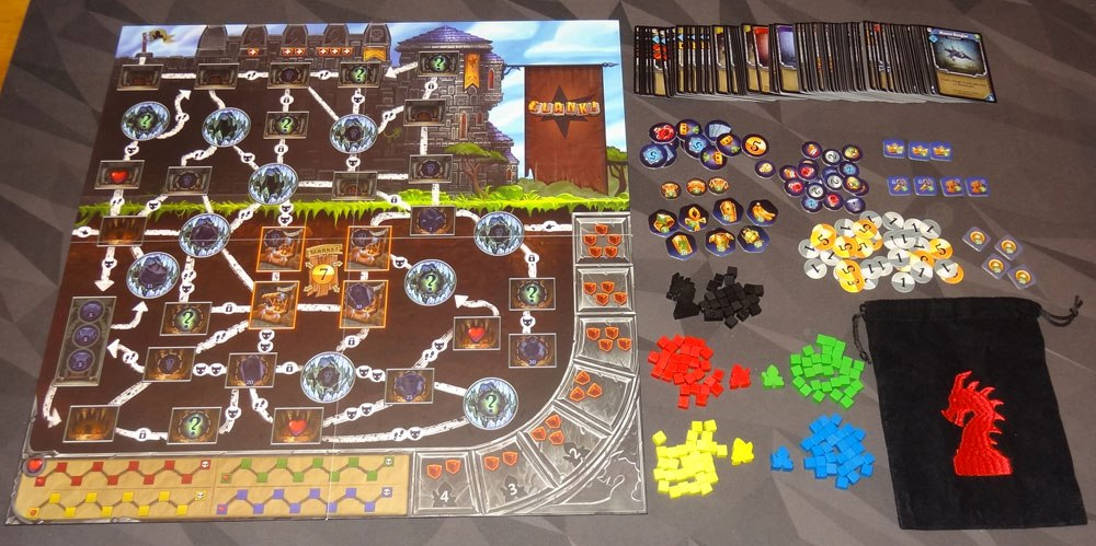 Clank! A Deck-Building Adventure Board Game Components