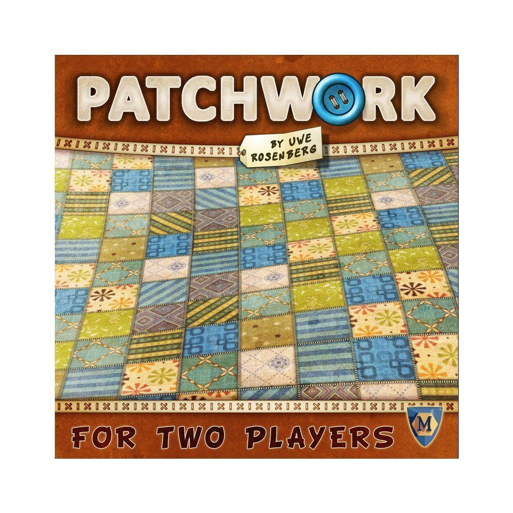 Patchwork - Patchwork is a game developed by the legendary Uwe Rosenburg who has created greats like Agricola and Le Havre.This is a quick game where you are purchasing tetris-syled pieces to fill your board. There is an engine-building mechanism that you must focus on in order to generate buttons (the currency of the game) and purchases those tetris-styled patches. Even though the theme might turn most off of this game, the core mechanics of this game make it a lot of fun to play with just about anyone!