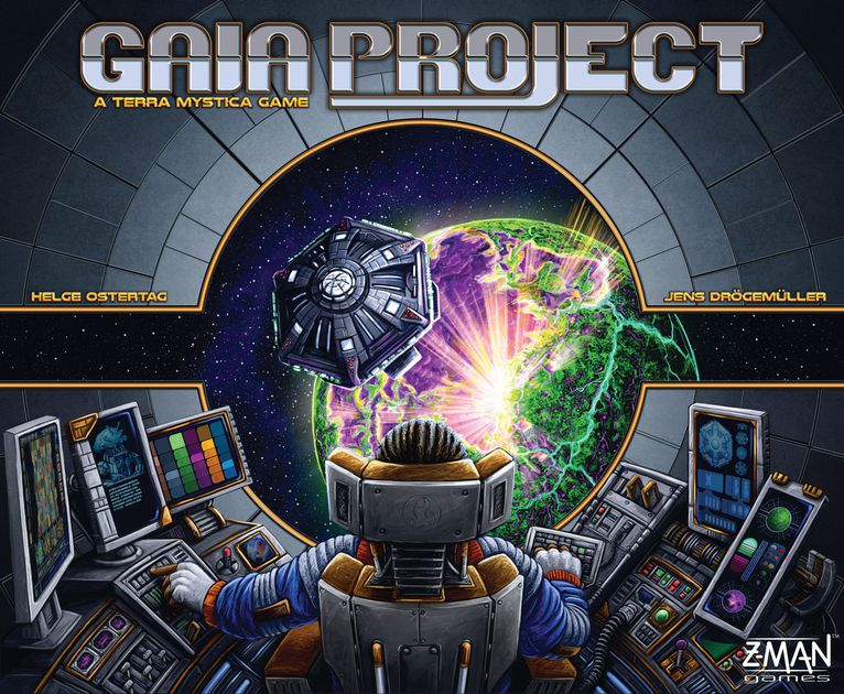Gaia Project - RELEASED: 2017Set your sights on distant stars and strive to colonize the galaxy in Gaia project, the follow-up to the smash hit Terra Mystica! True to the foundations that made Terra Mystica a massive success, this box invites one to four players to forge their own galactic empires. Explore the vast reaches of space and convert planets to meet your faction unique environmental needs as you seek to tighten your grasp on the galaxy. Fourteen unique factions stand ready to boldly take their first steps into the cosmos while building structures to generate resources, researching new technology, and uniting planets to form powerful federations. Chart your course and remake planets as you see fit in Gaia project. In the end, only the most advanced faction will win.