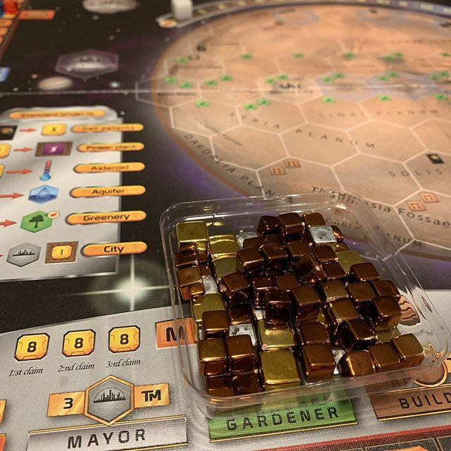 Round 2 of Terraforming Mars. Hopefully, this game goes much faster than the last! Does this game go faster with 3 or 4 players? I've just been playing two-player.