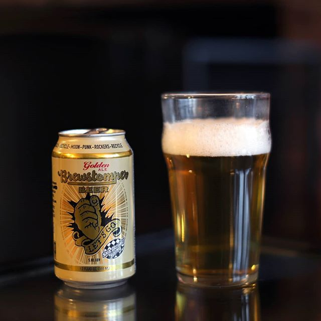 """As you can probably imagine by their name, @SkaBrewing have long been fans of @Rancid (and members' previous band, Operation Ivy), producing beers such as Hoperation Ivy and Rue B. Soho to further prove the point. Now the Durango, Colorado, brewery have taken their devotion to @TimTimeBomb, @LarsFrederiksen, @MattFreeman, and @BrandenSteineckert even further by actually brewing a beer with these rad dudes! Debuting at @TheBashFestival last weekend, #Brewstomper is an absolute crusher of a golden ale, ideal for slamming back at a rock concert: with its subtle hops and 5% ABV, it has just enough flavor to keep things tasty without detracting from the show. Naturally, it pairs best with Rancid's sophomore effort, 1994's #LetsGo -- the cover of which even shares the same """"fist"""" logo as the beer's label. While most know the Berkeley street/ska/pop punk band for their subsequent work, #AndOutCometheWolves, Let's Go is where the band first came into their own, and arguably their best record. Hell, it even features the classic, hooky track """"Radio,"""" co-written by @GreenDay frontman @BillieJoeArmstrong. Can't beat that two-fer! . #SkaBrewing #SkaBrewery #Ska #SkaMusic #DurangoCO #Durango #ColoradoBeer #Rancid #RancidBand #RancidFans #RancidRancid #RancidTattoo #RancidHooligans #RancidPunks #PunkRock #PunkRockForever #PunkRockForLife"""